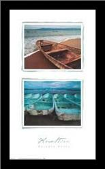 Beached Boats art print poster with simple frame