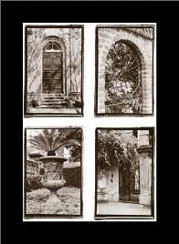 Old World Architecturals art print poster with simple frame