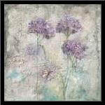 MEADOW FLOWERS III art print poster with simple frame
