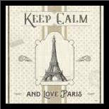 Paris Farmhouse V art print poster with simple frame