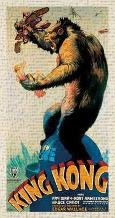 King Kong, 1933 art print poster transferred to canvas