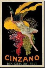Cinzano, 1920 art print poster with block mounting