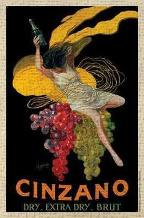 Cinzano, 1920 art print poster transferred to canvas