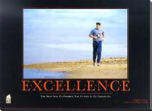 Excellence (Robert Harvey) art print poster with block mounting