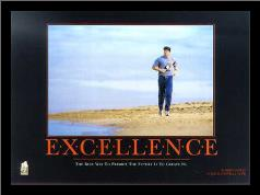 Excellence (Robert Harvey) art print poster with simple frame
