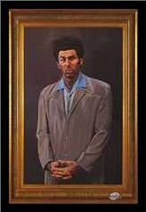 Kramer art print poster with simple frame
