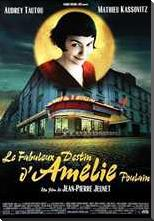 Amelie art print poster with block mounting