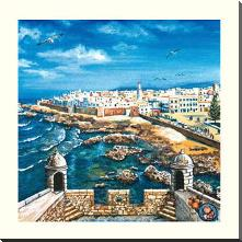 Essouria - Morocco art print poster with block mounting