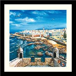 Essouria - Morocco art print poster with simple frame