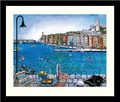 Portovenere art print poster with simple frame