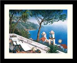 Costieria Amalfitano art print poster with simple frame