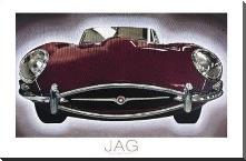 Jag art print poster with block mounting