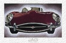 Jag art print poster transferred to canvas
