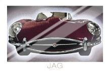 Jag art print poster with laminate