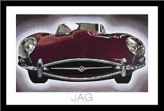 Jag art print poster with simple frame