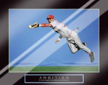Ambition - Baseball Player art print poster with laminate