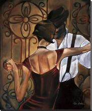 Evening Tango art print poster with block mounting