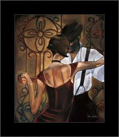 Evening Tango art print poster with simple frame