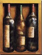 Straight From The Cellar I art print poster with block mounting