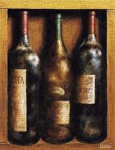 Straight From The Cellar I art print poster transferred to canvas