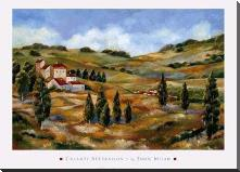 Chianti Afternoon I art print poster with block mounting