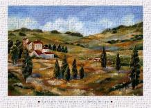 Chianti Afternoon I art print poster transferred to canvas