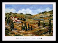 Chianti Afternoon I art print poster with simple frame