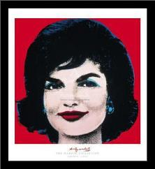 Jackie, 1964 art print poster with simple frame