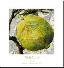 Fruit Study I art print poster with block mounting