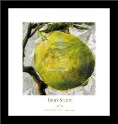Fruit Study I art print poster with simple frame