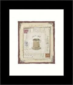 Cafe Noir art print poster with simple frame