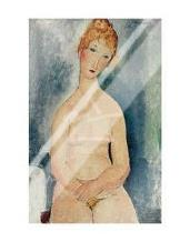 Seated Nude, Ca 1918 art print poster with laminate