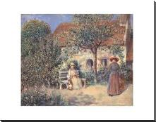 Garden Scene In Brittany, C 1886 art print poster with block mounting