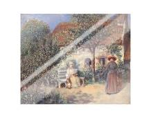Garden Scene In Brittany, C 1886 art print poster with laminate