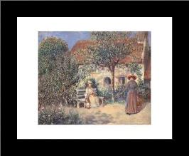 Garden Scene In Brittany, C 1886 art print poster with simple frame