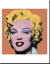 Shot Orange Marilyn, 1964 art print poster with block mounting