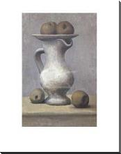 Still Life With Pitcher And Apple art print poster with block mounting