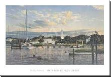 Ocracoke Memories art print poster with block mounting