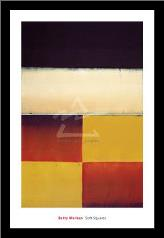 Soft Squares, 2004 art print poster with simple frame