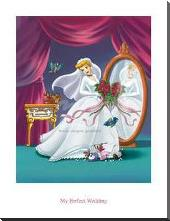 Cinderella - My Perfect Wedding art print poster with block mounting