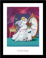 Cinderella - My Perfect Wedding art print poster with simple frame