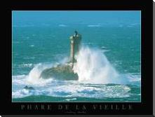 Phare De La Vieille art print poster with block mounting