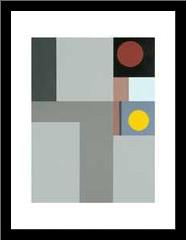 1938 (Composition) art print poster with simple frame