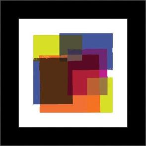 Colors In Squares 1 art print poster with simple frame