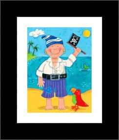 Treasure Island II art print poster with simple frame