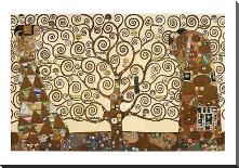 Tree Of Life - Stoclet Frieze art print poster with block mounting