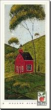 Country Panel IV-School House art print poster with block mounting