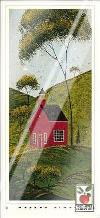Country Panel IV-School House art print poster with laminate