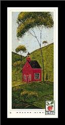 Country Panel IV-School House art print poster with simple frame