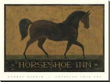 Horseshoe Inn art print poster with block mounting